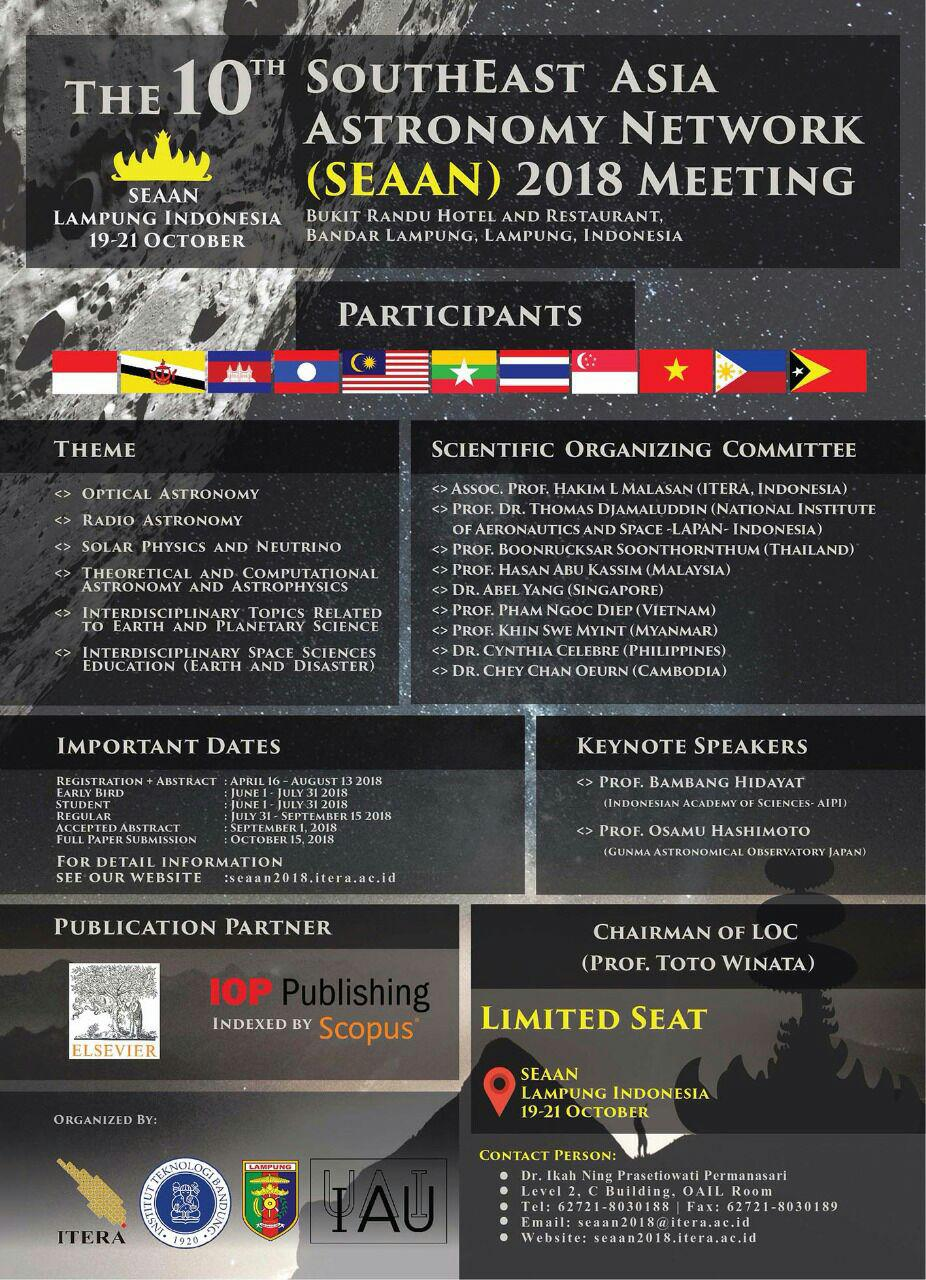 Southeast Asia Astronomy Network 2018