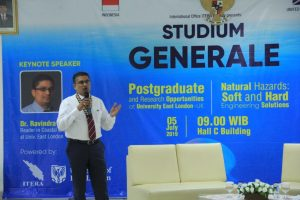 Studium Generale ITERA-University of East London Bahas Penanganan Bencana Alam