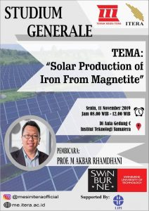 Studium Generale Solar Production of Iron from Magnetite