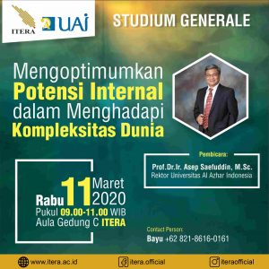 Studium Generale Optimalize Inner Potential in Facing World Complexity